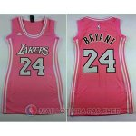 Maillot NBA Femme de Bryant Los Angeles Lakers 24# Rose