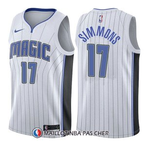 Maillot Orlando Magic Jonathon Simmons Association 17 2017-18 Blanc