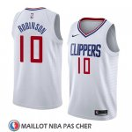 Maillot Los Angeles Clippers Jerome Robinson No 10 Association 2018 Blanc