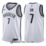 Maillot Brooklyn Nets Jeremy Lin Association 7 2017-18 Blanc