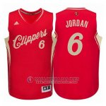 Maillot Los Angeles Clippers Jordan No?l #6 Rouge