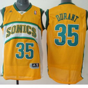 Maillot Seattle Supersonics Durant Sonics #35 Jaune