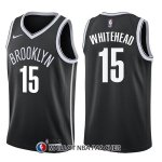 Maillot Brooklyn Nets Isaiah Whitehead Icon 15 2017-18 Noir