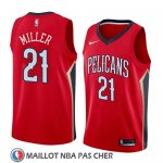 Maillot New Orleans Pelicans Darius Miller No 21 Statement 2018 Rouge
