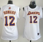 Maillot Femme de Howard Los Angeles Lakers #12 Blanc