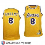 Maillot Enfant Los Angeles Lakers Kobe Bryant No 8 Retro Jaune