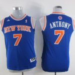 Maillot Enfant de Bleu Anthony New York Knicks Revolution 30