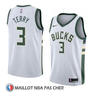 Maillot Milwaukee Bucks Jason Terry No 3 Association 2018 Blanc
