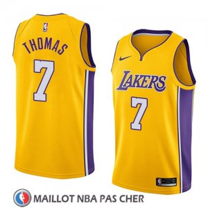 Maillot Los Angeles Lakers Isaiah Thomas No 7 Icon 2018 Jaune