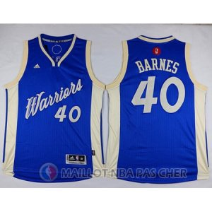 Maillot Golden State Warriors Barnes No?l #40 Bleu