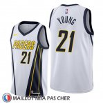 Maillot Indiana Pacers Indiana Pacers Thaddeus Young Earned Edition Blanc