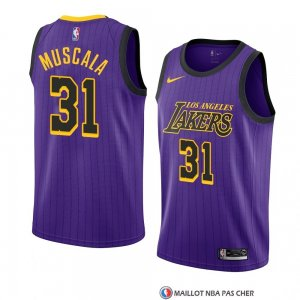 Maillot Los Angeles Lakers Mike Muscala Ville 2018-19 Volet