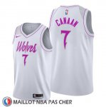 Maillot Minnesota Timberwolves Isaiah Canaan Earned Blanc