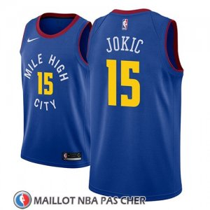 Maillot Denver Nuggets Nikola Jokic No 15 Statement 2018-19 Bleu