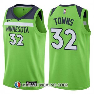 Maillot Minnesota Timberwolves Karl-anthony Towns Statement 2017-18 32 Vert
