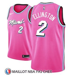 Maillot Miami Heat Wayne Ellington Earned 2018-19 Rosa