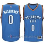 Maillot Authentique Oklahoma City Thunder Bleu