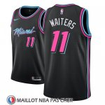 Maillot Miami Heat Dion Waiters No 11 Ciudad 2018-19 Noir