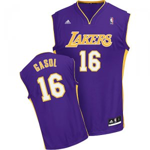 Maillot Pourpre Gasol Los Angeles Lakers Revolution 30