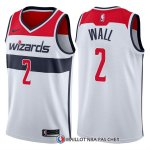 Maillot Authentique Washington Wizards Wall 2017-18 2 Blanc
