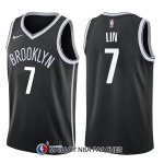Maillot Brooklyn Nets Jeremy Lin Icon 7 2017-18 Noir