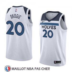 Maillot Minnesota Timberwolves Josh Okogie No 20 Association 2018 Blanc