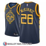 Maillot Golden State Warriors Alfonzo Mckinnie No 28 Ciudad 2018-19 Bleu