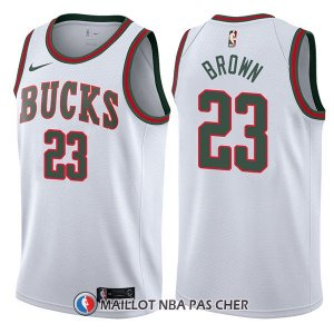 Maillot Milwaukee Bucks Sterling Marron Return To The Mecca Classic 23 2017-18 Blanc