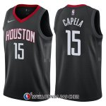 Maillot Houston Rockets Clint Capela Statement 15 2017-18 Noir