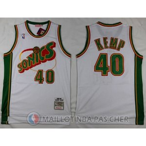 Maillot Seattle Supersonics Kemp #40 Blanc