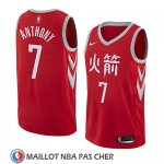 Maillot Houston Rockets Carmelo Anthony Ciudad 2018 Rouge