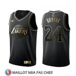 Maillot Golden Edition Los Angeles Lakers Kobe Bryant Noir