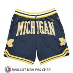 Short Air Jordan Just Don NCAA Michigan Bleu
