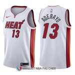 Maillot Miami Heat Bam Adebayo Association 13 2017-18 Blanc