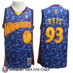 Maillot Golden State Warriors Bape No 93 Hardwood Classics Bleu
