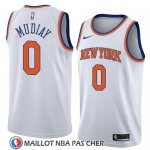 Maillot New York Knicks Emmanuel Mudiay No 0 Association 2018 Blanc