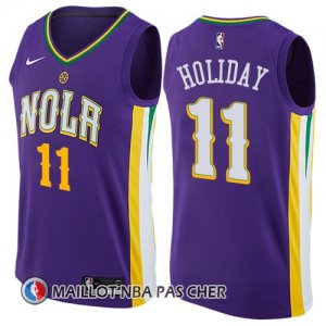 Maillot New Orleans Pelicans Holiday 11 Ciudad 2017-18 Volet