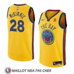 Maillot Golden State Warriors Alfonzo Mckinnie No 28 Ciudad 2018-19 Jaune