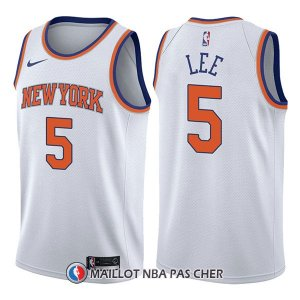 Maillot New York Knicks Courtney Lee Association 5 2017-18 Blanc