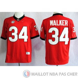 Maillot NCAA Herchel Walker Rouge Edicion Limitada