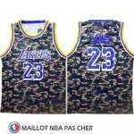Maillot Los Angeles Lakers Lebron James Camuflaje Vert