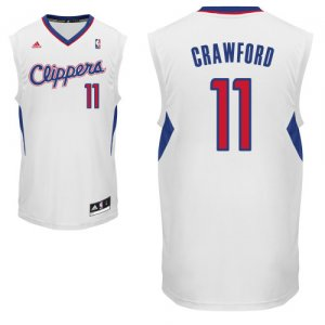 Maillot Blanc Crawford Los Angeles Clippers #11 Revolution 30