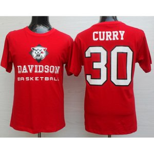 Maillot Manche Courte Davidson College Curry 30 Rouge
