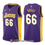 Maillot Los Angeles Lakers Andrew Bogut Statehombret 66 2017-18 Volet