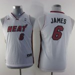 Maillot Enfant de Blanc James Miami Heat Revolution 30