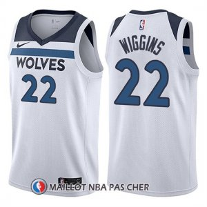 Maillot Minnesota Timberwolves Andrew Wiggins 22 2017-18 Blanc