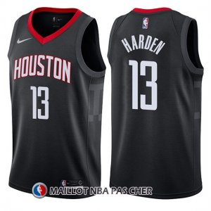 Maillot Houston Rockets James Harden Statement 2017-18 13 Noir