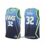Maillot Dallas Mavericks Trey Burke Ville 2020 Bleu