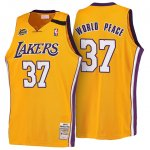 Maillot Retro 1999-00 Lakers World-Peace 37 Jaune