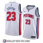 Maillot Detroit Pistons Blake Griffin No 23 Association 2018 Blanc